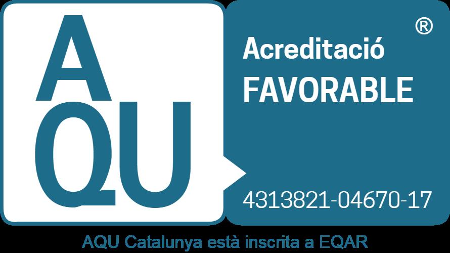 Acreditació favorable d'AQU Catalunya